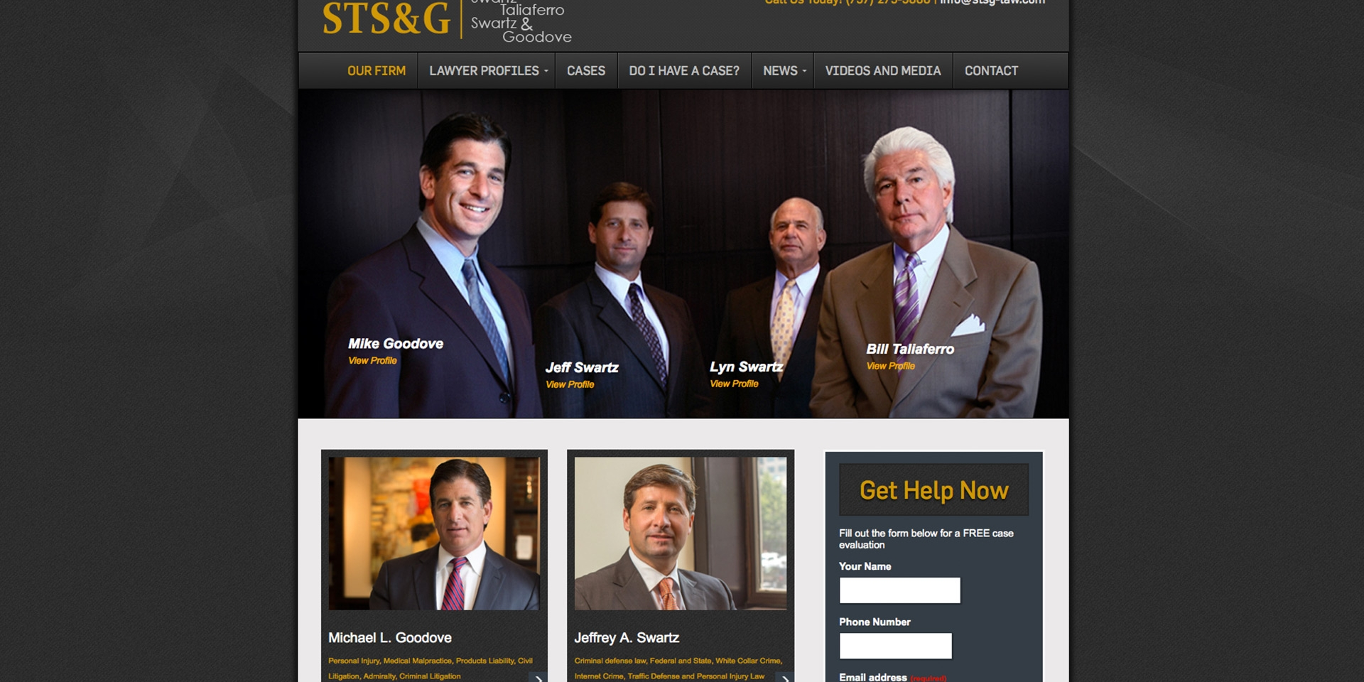 Responsive Site for STSG Law Firm