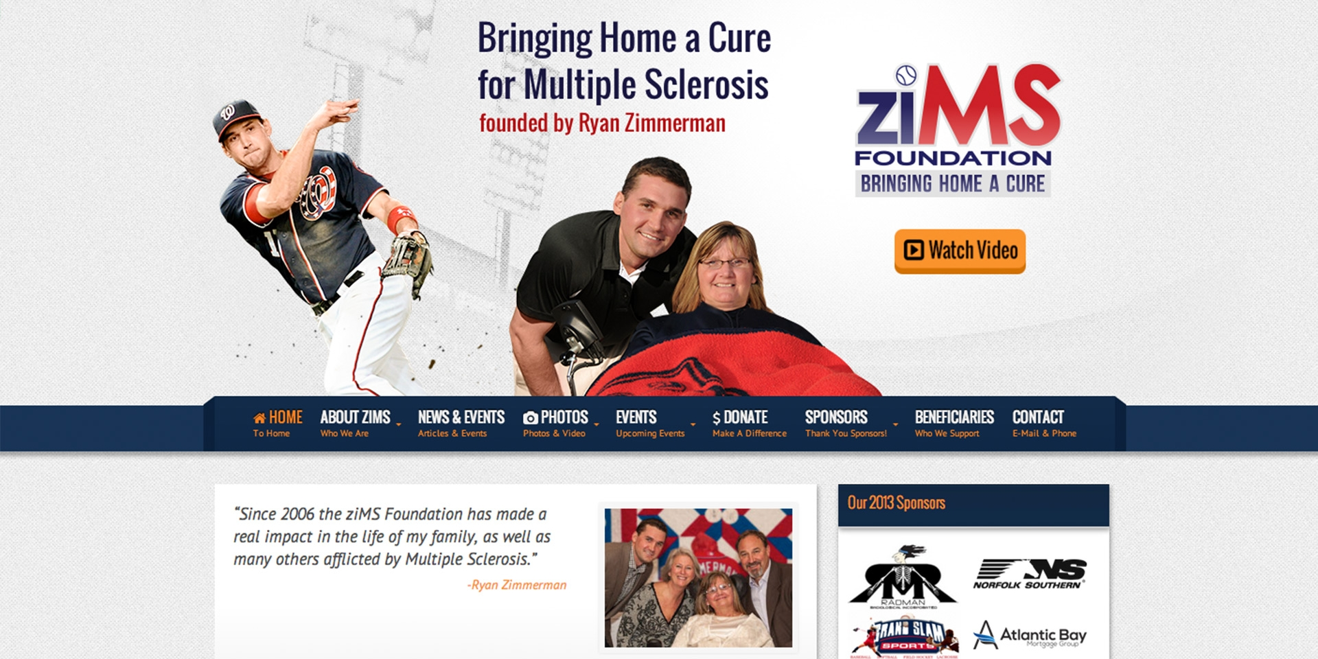 ziMS Foundation Responsive Website